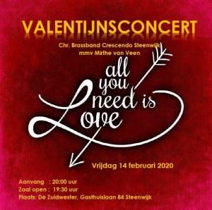 Valentijnsconcert poster Crescendo 2020